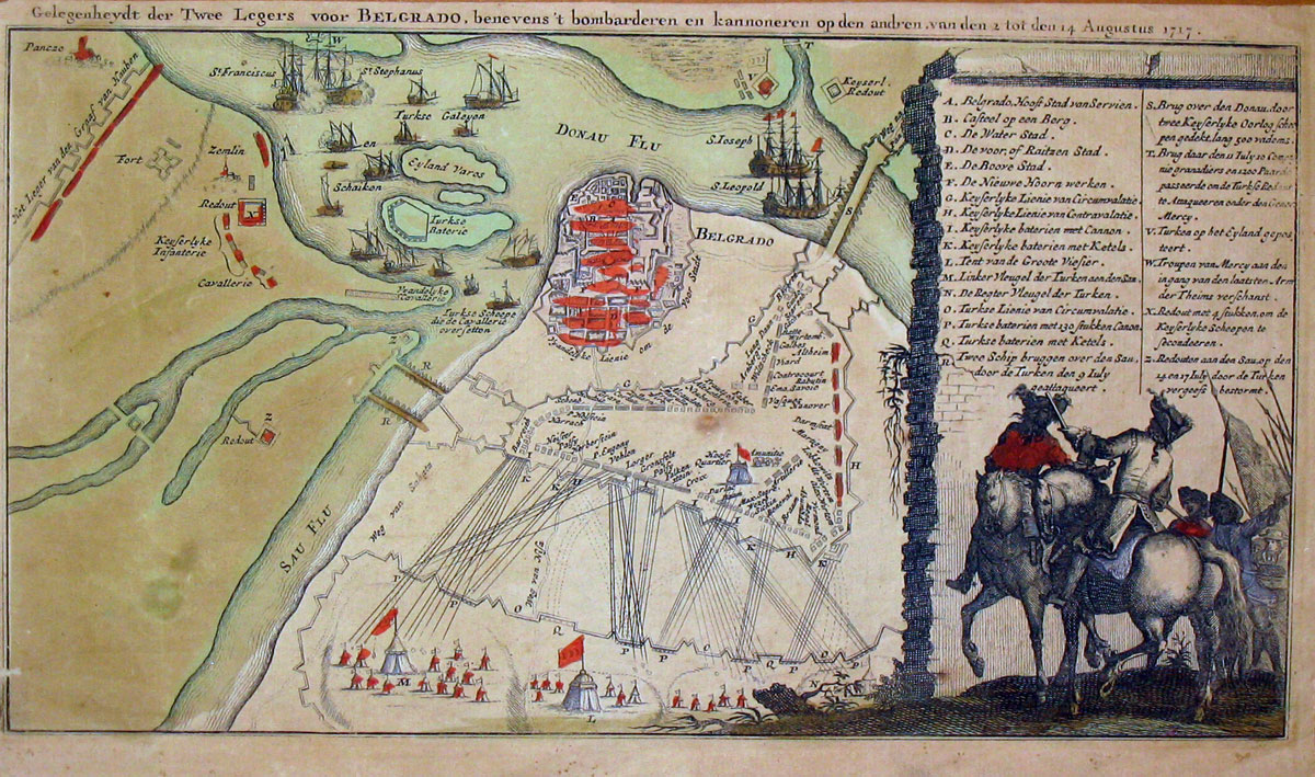 GELEGENHEYDT DER TWEE LEGERS VOOR BELGRADO, Plan of Belgrade from 1717